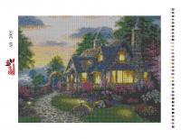 Набор Алмазной мозаики   АВ  2005  Домик полная зашивка