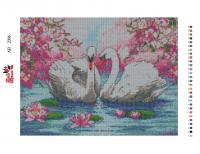 Набор Алмазной мозаики   АВ  2006  Лебеди полная зашивка