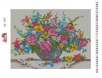 Набор Алмазной мозаики   АВ  2007  Цветы полная зашивка