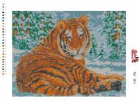 Набор Алмазной мозаики   АВ  2011 Тигр  полная зашивка