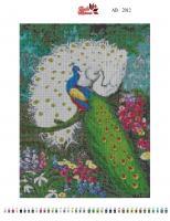 Набор Алмазной мозаики   АВ  2012 Павлины полная зашивка