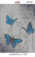 Набор Алмазной мозаики  АВ 3043 Бабочки  (полная зашивка)