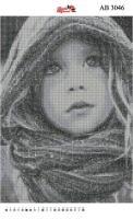 Набор Алмазной мозаики  АВ 3046 Девочка  (полная зашивка)