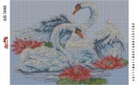 Набор Алмазной мозаики  АВ 3048 Лебеди  (полная зашивка)