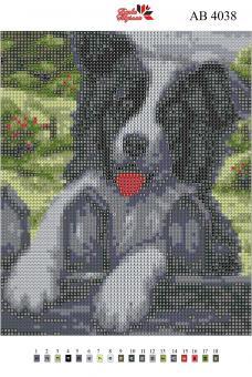 Набор Алмазной мозаики   АВ 4038 Собака