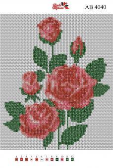 Набор Алмазной мозаики   АВ 4040 Розы полная зашивка