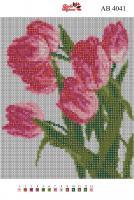 Набор Алмазной мозаики   АВ 4041 Тюльпаны полная зашивка