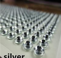 Клеевой камень на планшете  8мм  (220шт) белый