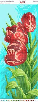 Вышивка бисером Пано ПМ 4021 Тюльпаны (частичная   зашивка)