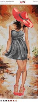 Вышивка бисером Пано ПМ 4032 Девушка  (частичная зашивка)