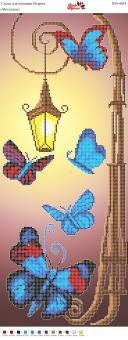 Вышивка бисером Пано ПМ 4034 Бабочки  (частичная зашивка)