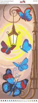 Вышивка бисером Пано ПМ 4035 Бабочки  (полная зашивка)
