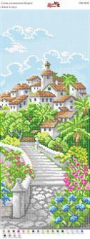 Вышивка бисером Пано ПМ 4042 Замок в саду  (полная зашивка)