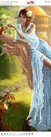 Вышивка бисером Пано ПМ 4052 Девушка (частичная зашивка)