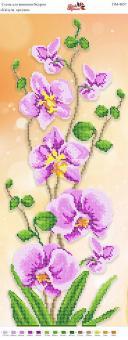 Вышивка бисером Пано ПМ 4057 Орхидея (частичная зашивка)