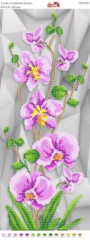 Вышивка бисером Пано ПМ 4058 Орхидея (частичная зашивка)