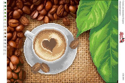 Вышивка бисером СВ 3091 Кофе  (частичная зашивка)