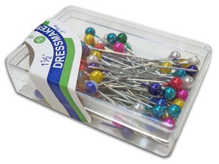 Булавка портновская с шариком в коробке  (80шт)