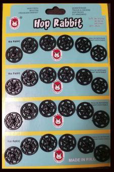 Кнопка пришивная пластмассовая  15мм/24шт. черная