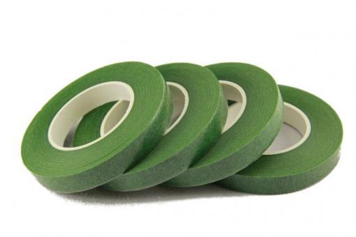 Флористическая лента (тейплента) темно зеленая №301    (упаковка 12шт)