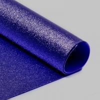 фоамиран с глиттером  (блестками)  синий  20см*30см  Упаковка 10шт