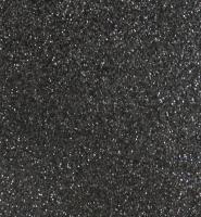 фоамиран с глиттером  (блестками)  черный   20см*30см