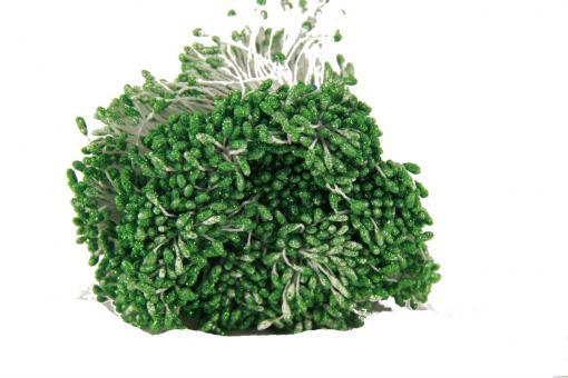 Тычинка с блестками  0,3 см 1700 шт  зеленая