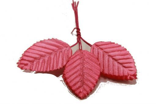 Лист розы декоративный розовый 10шт
