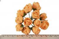 Букет роз из латекса 5632-1-3  упаковка 112шт персиковая