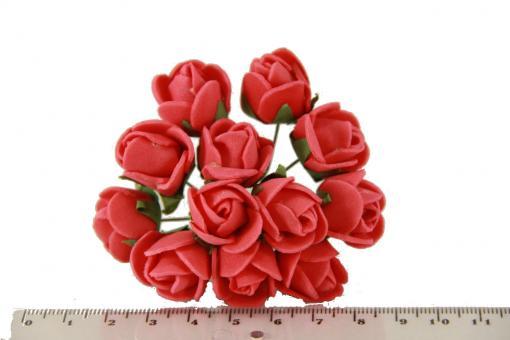 Букет роз из латекса 5632-1-3  упаковка 112шт красная