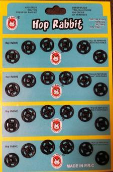 Кнопка пришивная пластмассовая  12мм/24шт. черная
