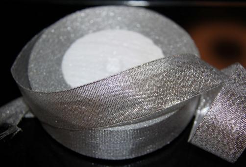 Лента парча (люрикс)  5 см серебро  Упаковка 4 шт