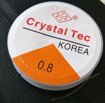 Силиконовая нитка резинка белая 10шт (10м)