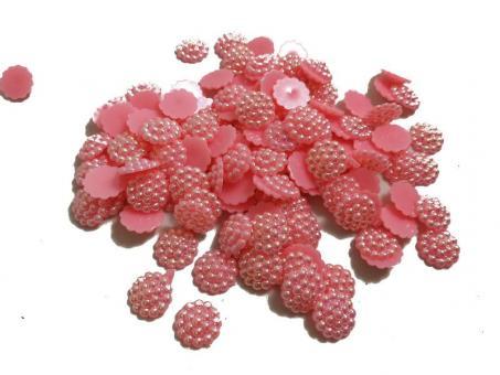 Серединки для канзаши  хамелион  №175  темно  розовый 50шт