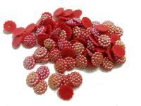 Серединки для канзаши  хамелион   красный  50шт