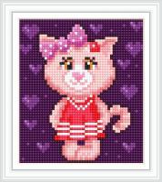 Набор Алмазной мозаики АВ 5083 Кошка  полная зашивка
