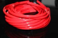 Обруч для волос  пластиковый цветной  0,8см  красный   (Упаковка 12шт)