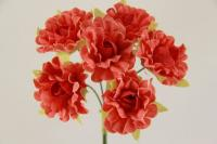 Цветок гвоздики  5634-1-12  красный