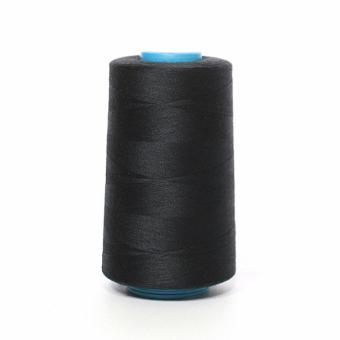 Нитки швейные бобина черного цвета