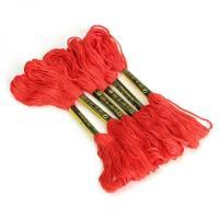 Нитки мулине для вышивания 50 шт, красное