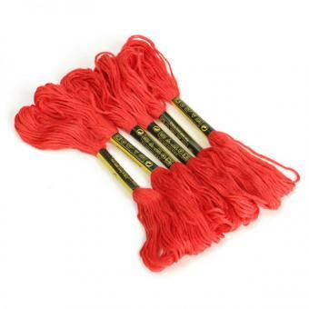 Нитка улине для вышивания 50 шт., красного цвета