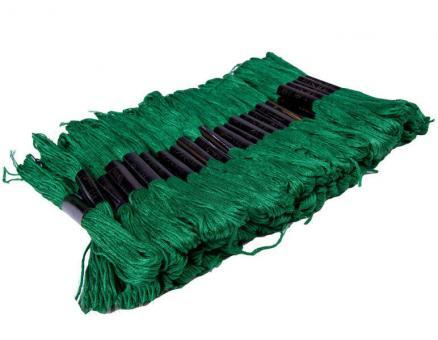 Нитка улине для вышивания 50 шт., зеленого цвета