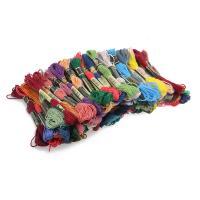 Нитки мулине для вышивания 100 шт., цветное