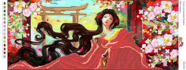 Вышивка бисером Пано ПМ 4031 Цвет сакуры  (частичная зашивка)