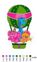 Набор вышивки нитками А5 006 Воздушный шар