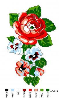 Набор вышивки нитками А5 014 Розочка