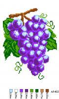 Набор вышивки нитками А5 022 Виноград