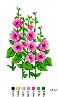 Набор вышивки нитками А5 025 Цветы