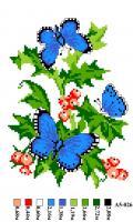Набор вышивки нитками А5 026 Бабочки