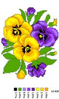 Набор вышивки нитками А5 028 Цветочек